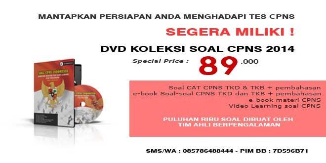 HARGA SPECIAL DVD SOAL CPNS